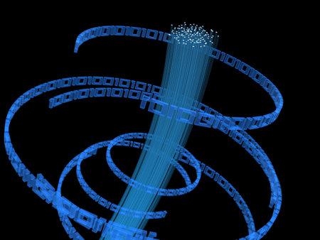 glas: binary and fiber glas Stock Photo