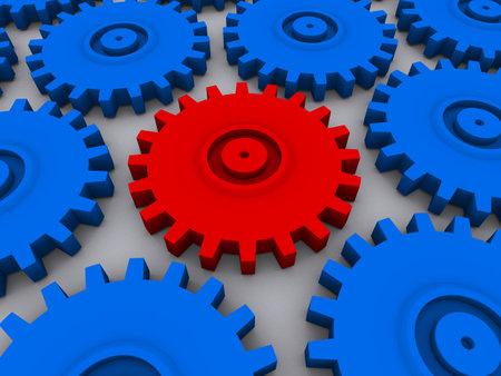 technics: 3d gears Stock Photo