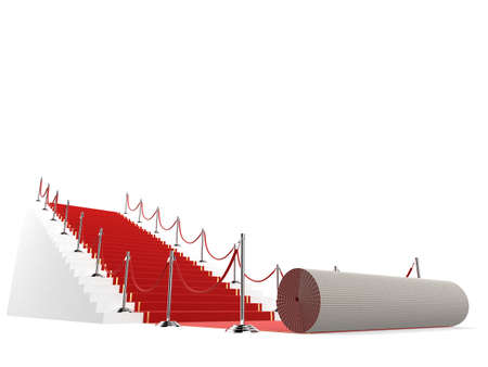 vip area: unrolled red carpet