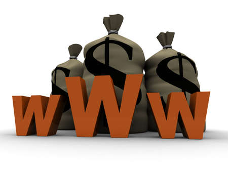 internet and mony Stock Photo - 2883477