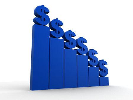 dollar statistic Stock Photo - 2883418