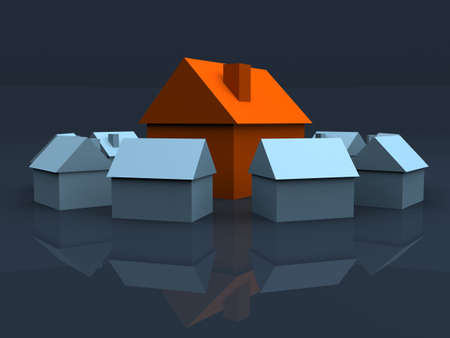 equal opportunity: simple 3d houses