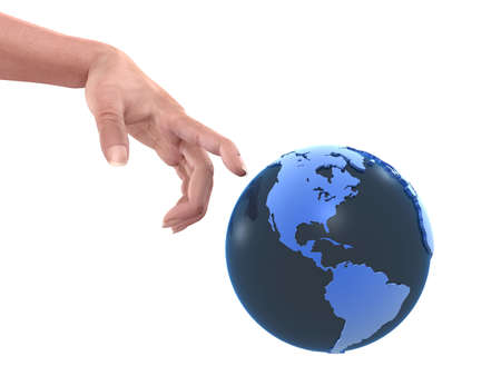 peacemaker: globe and hand