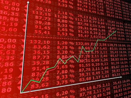 rising stock market Stock Photo - 2902505