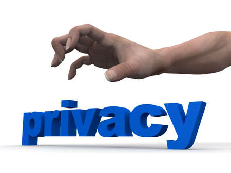 conceal: privacy Stock Photo