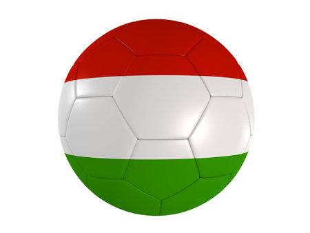 italien: italien flag on a football