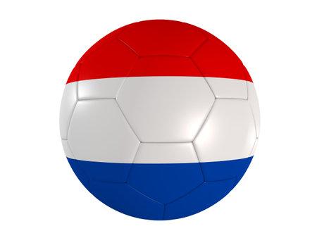 dutch flag on a football photo