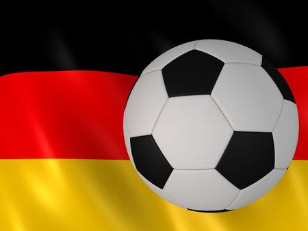 uefa: german flag behind a football