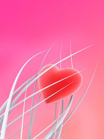 radiosity: heart illustration Stock Photo