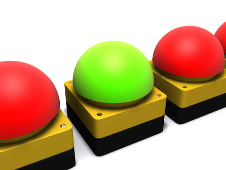 emergency buttons Stock Photo - 3006331