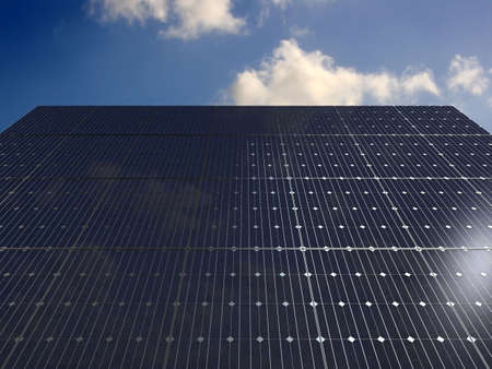 economize: solar panels under the sky
