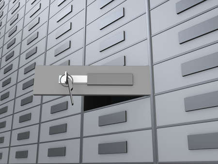 lockbox: lockers Stock Photo
