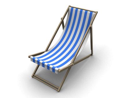 lounge chair: 3d deck chair Stock Photo