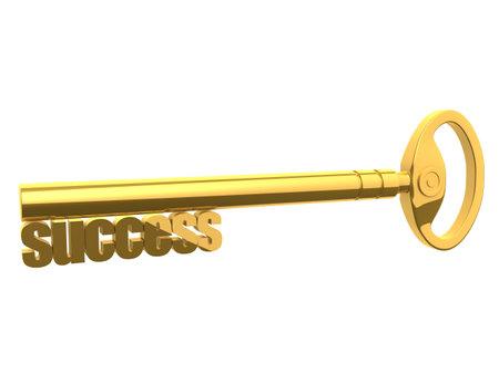 key to success: golden success key