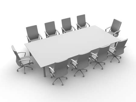 boardroom: conference table Stock Photo