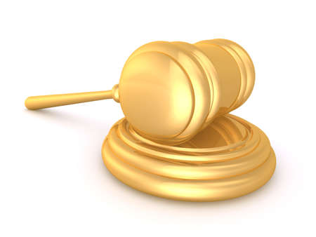 golden gavel Stock Photo - 4696070