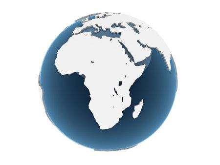 earth logo: 3d globe