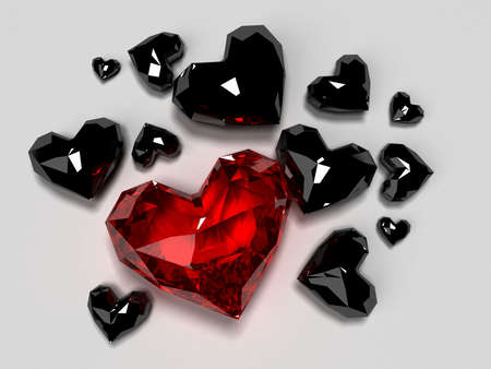 red diamonds heart photo