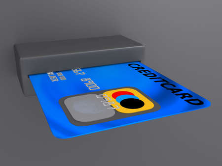 bankomat: credit card Stock Photo