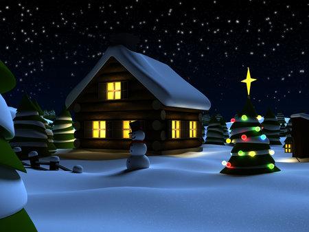 christmasball: christmas scene Stock Photo