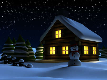 christmas night: christmas scene Stock Photo