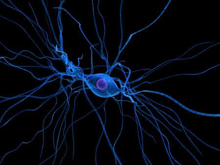 geïsoleerde zenuw cel Stockfoto