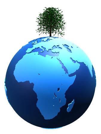 tree on globe Stock Photo - 4757739