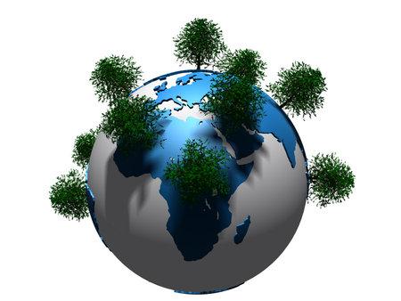 trees on globe Stock Photo - 4757731