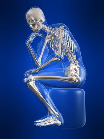 skelett mensch: Denken Skelett Lizenzfreie Bilder