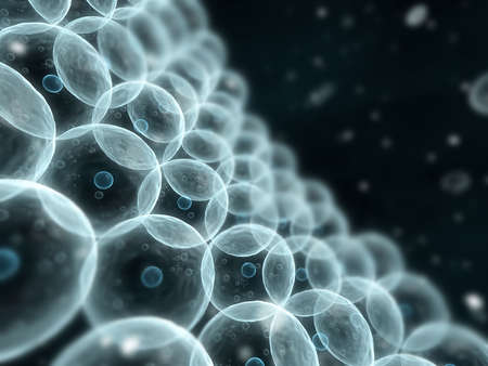 cytoplasm: human cells Stock Photo