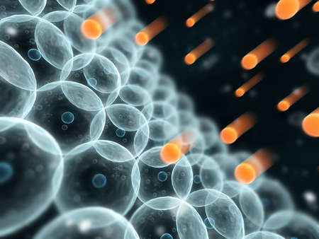 microbiologia: las c�lulas y los radicales libres Foto de archivo