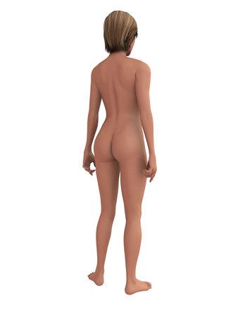3d nude: female body