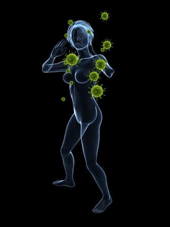 immunodeficiency: immune defense Stock Photo