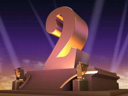 golden 2 on a platform - film style photo