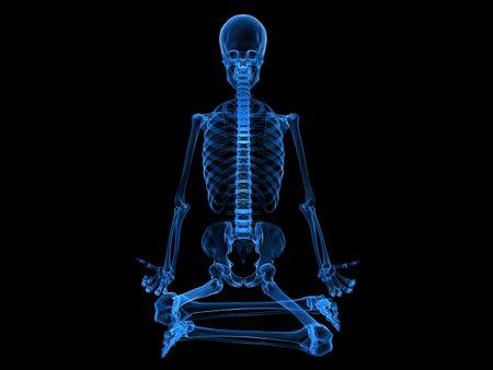 x-ray-menselijk skelet zitten