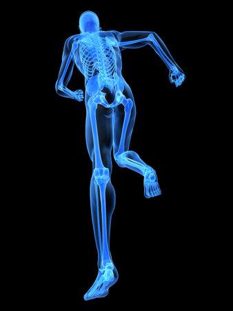 with stamina: x-ray - running skeleton