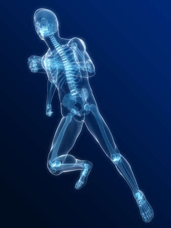 running skeleton photo