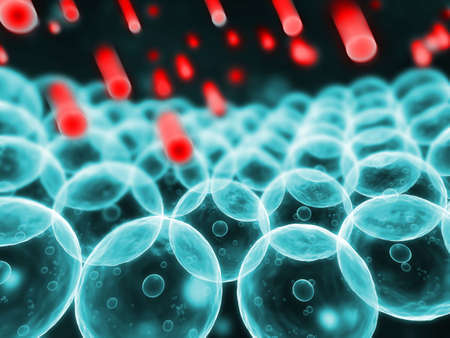 membrane: free radicals and human cells Stock Photo