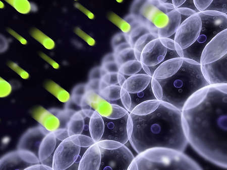 celulas humanas: los radicales libres y las c�lulas humanas  Foto de archivo
