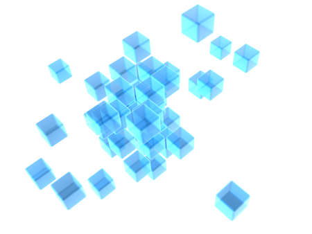 abstract blue cubes Stock Photo - 6588790