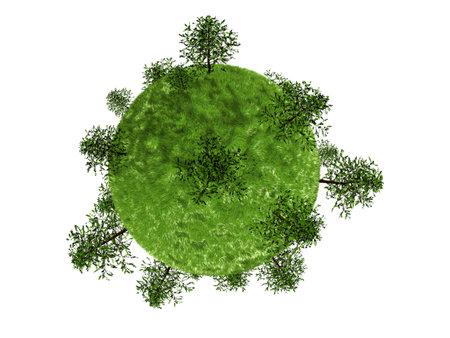 trees on green globe Stock Photo - 6833713