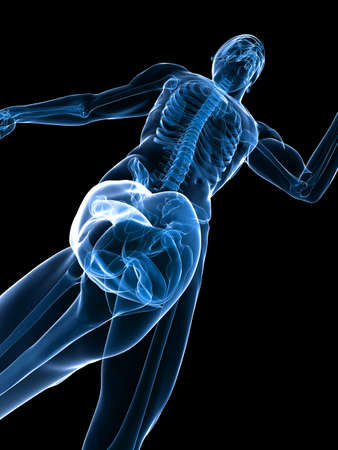with stamina: jogger - healthy knee Stock Photo