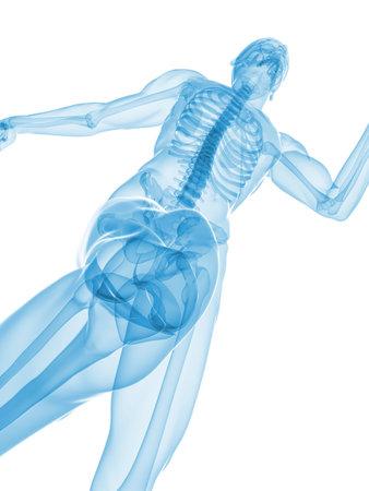 jogger: jogger - healthy knee Stock Photo