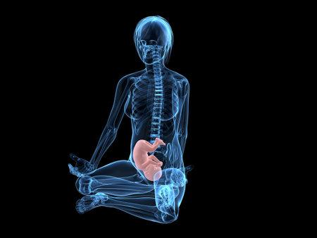 pregnancy yoga: pregnant woman