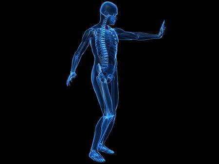 immunocompromised: male skeleton blocking