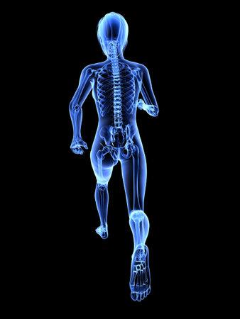 female jogger - x-ray  photo