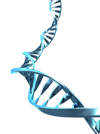 dna spiral: part of a double helix Stock Photo