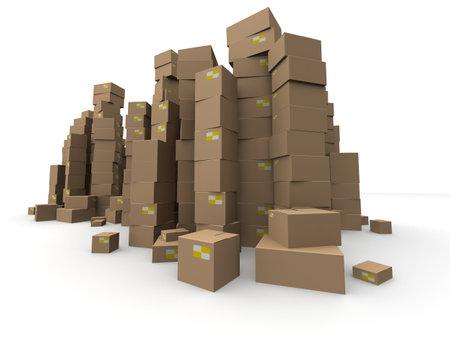 brown cartons Stock Photo - 7250307