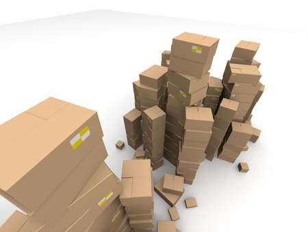 brown cartons Stock Photo - 7250325