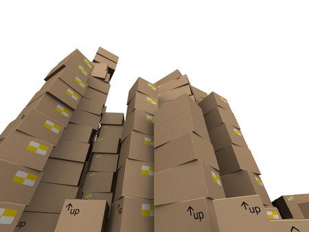 brown cartons Stock Photo - 7250321